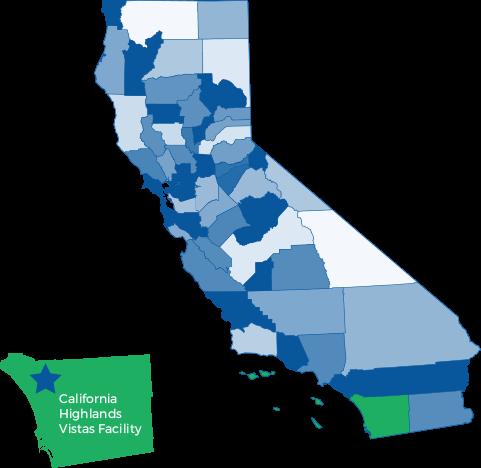 Map of California Highlands Vistas