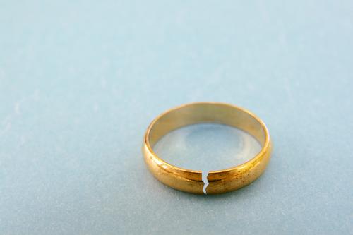 Cracked wedding ring