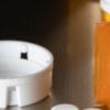 bottle of percocet pills on dark background