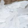 cut crystal meth on table