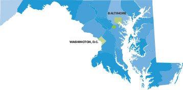 Map of Maryland House Detox