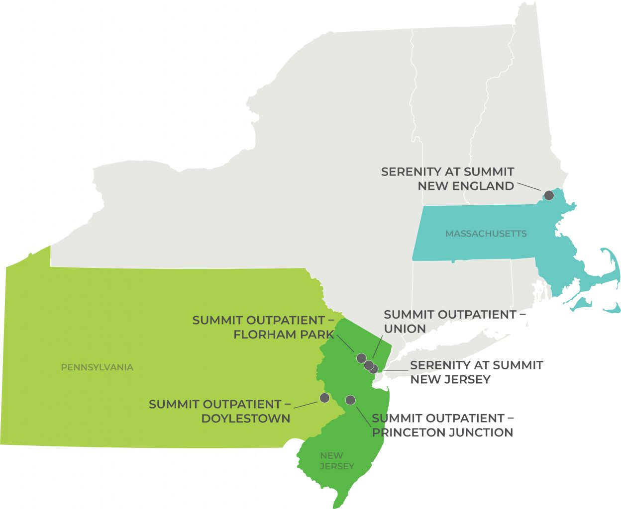 Map of Summit Behavioral Health | Florham Park