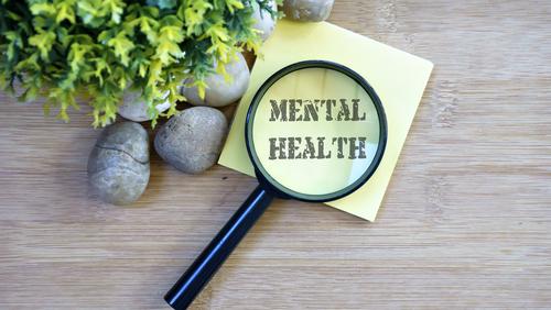 Mental Health written on a post it