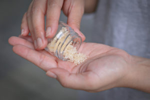 Flakka being poured into a palm