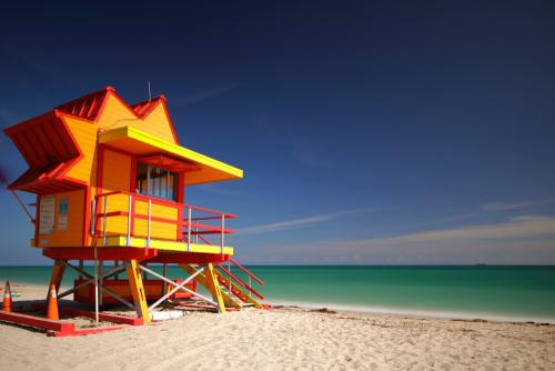 Guard tower on a beach