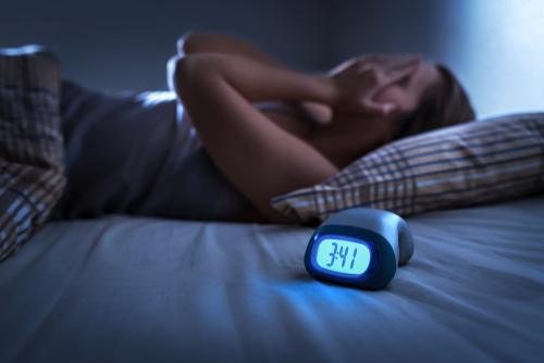 Person having trouble sleeping